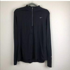 Nike Dri Fit | Black Quarter zip Sweater XL